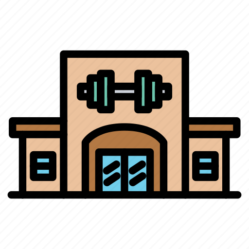 building, fitness, gym, health, membership icon