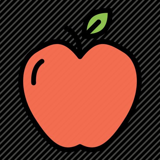 apple, fitness, fruit, gym, health icon