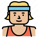 fitness, gym, personal trainer, woman, woman with headband