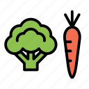 broccoli, fitness, health, health food, vegetables icon