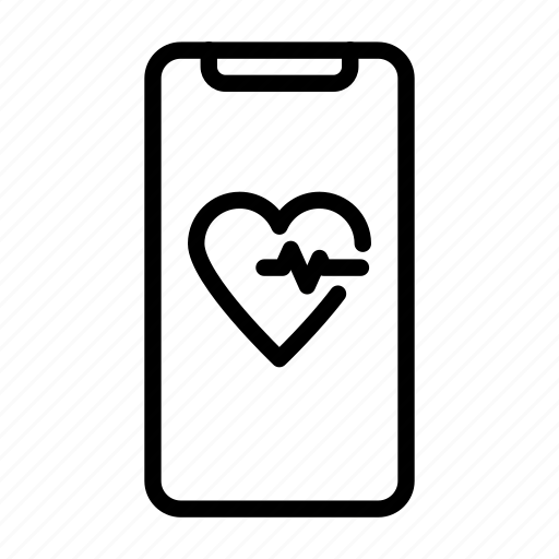 fitness, fitness app, gym, health, heart rate icon