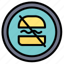 ban, banned, diet, dieting, fast icon