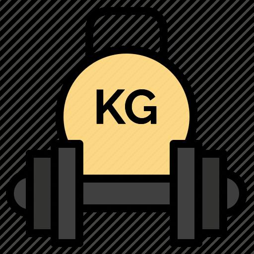 barbell, dumbbell, equipment, kettlebell, weight icon