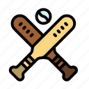 ball, baseball, bat, bats icon