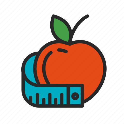 Apple, diet, fitness, health, line, sport icon - Download on Iconfinder