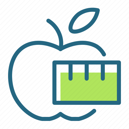 apple, diet, health, weight loss icon