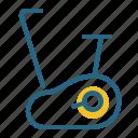 equipment, exercise bike, fitness, training icon