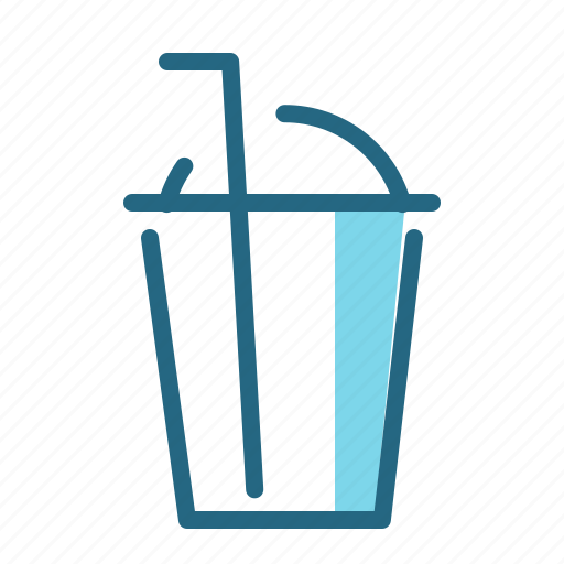beverage, cup, drink, straw icon