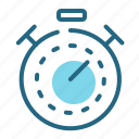 sport, stopwatch, time, training icon