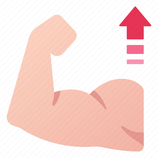 arm, biceps, exercise, increase, muscle, strength, strong icon