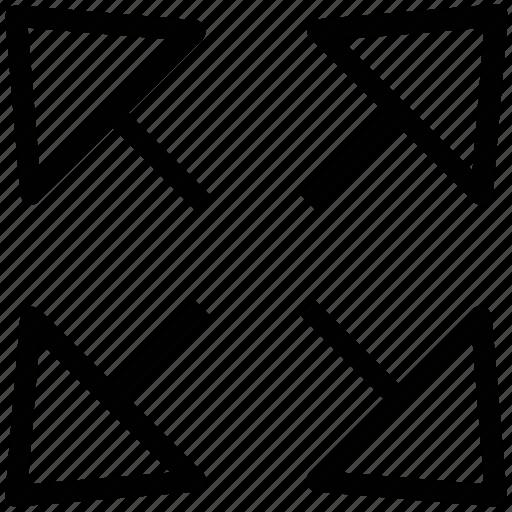 arrow, arrow key, direction arrow, direction key, four arrow icon