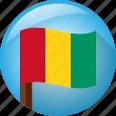 flag, circle, guinea, pole icon