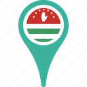 abkhazia, country, flag, map, pin icon
