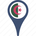 algeria, flag, country, flags, map, pin