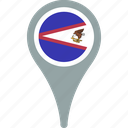 american, country, flag, map, pin, samoa icon