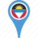 and, antigua, barbuda, barbuda flag pin, flag icon