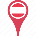austria, country, flag, flags, map icon