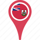 bermuda, country, flag, map, pin, pin map country icon