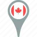 canada, flag, country, pin, map
