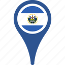 country, el, flag, map, pin, salvador icon