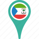 equatorial, flag, guinea, map, pin, round, world icon