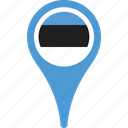 country, estonia, flag, flags, map, pin icon