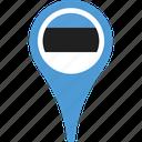 estonia, flag, country, flags, map, pin