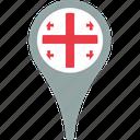 flag, georgia, georgia flag pin, map, pin