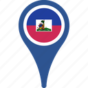 flag, haiti, haiti flag pin, map, pin icon