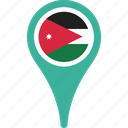 country, flag, jordan, location, map icon