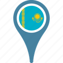 country, flag, kazakhstan, national, pin icon