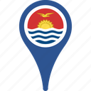 flag, flags, kiribati, kiribati flag pin, map, pin icon
