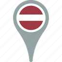 country, flag, flags, latvia, pin icon