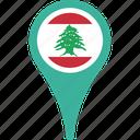 flag, lebanon, lebanon flag pin, map, pin