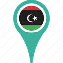 country, flag, flags, libya, national, pin icon