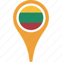 flag, lithuania, country, flags, map