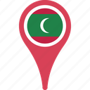country, flag, location, maldives, map, marker, pin icon