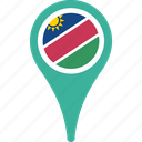 flag, namibia, country, flags, map, pin