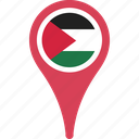 flag, map, palestine, palestine flag pin, pin icon