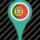 flag, portugal, map, portugal flag pin, pin