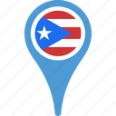 flag, pin, puerto, puertoflagpin, ricol icon
