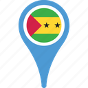 and, country, flag, map, pin, principe, sao, tome icon