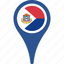 country, flag, maarten, map, pin, sint icon