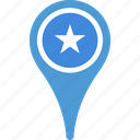 country, flag, map, pin, somalia icon