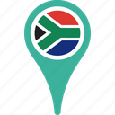 africa, country, flag, pin, south icon