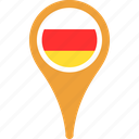 flag, ossetia, south, country, flags, map, pin