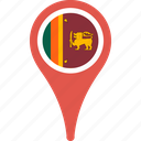 country, flag, lanka, map, pin, sri icon