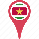 flag, suriname, suriname flag pin icon