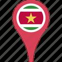 flag, suriname, suriname flag pin