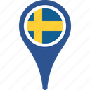 country, flag, map, sweden, world icon